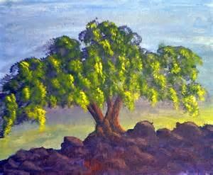 Acrylic Landscape Painting Tree