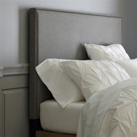 how to make a fabric headboard how to make a nailhead upholstered headboard house updated