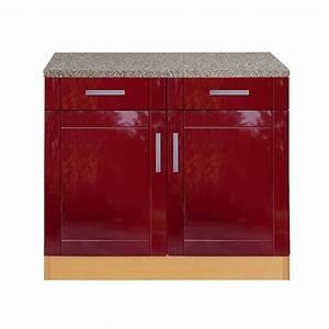 Unterschrank Küche 100 Cm : k chen unterschrank varel 2 t rig 100 cm breit hochglanz bordeaux rot k che k chen ~ Bigdaddyawards.com Haus und Dekorationen