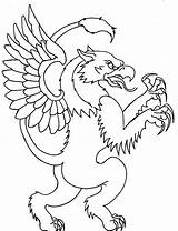 Griffin Outline Simple Tattoo Cool Tattoos Coloring Outlines Designs Scary Drawing Printable Cartoon Pages Drawings Easy Monkey Pyrography Melted Wax sketch template