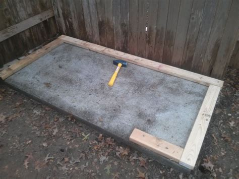 laying slabs for shed laying a foundation for a tool shed or children s