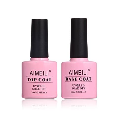 aimeili gel nail polish  wipe top  base coat set soak