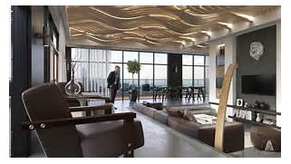Design Firm Artroom Studio Takes An Art Deco Approach To Modern Luxury Small Attic Loft Apartment In Prague IDesignArch Interior Modern Loft Simple Yet Stunning Studio Apartment Interior Designs Bored Art Luxury Loft Apartment Renovation By Guillaume Gentet 1 HomeDSGN