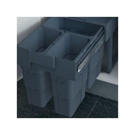 poubelle cuisine encastrable 30 litres poubelle cuisine coulissante 3 bacs 30 litres