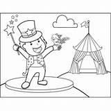 Magician Bird Coloring Circus sketch template