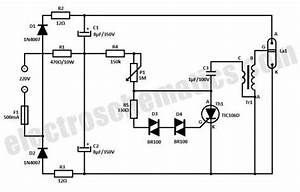 Strobe Light Circuit Schematic