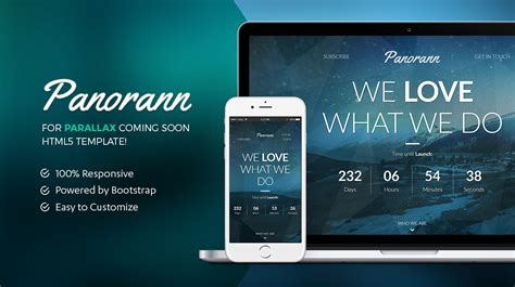 bootstrap html 5 template under construction panorann html5 bootstrap template under construction