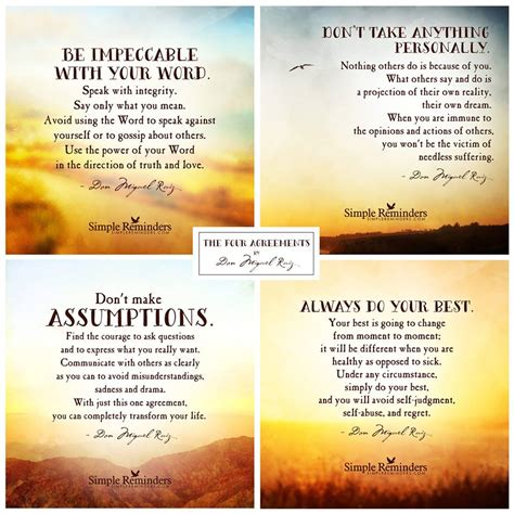 The Four Agreements By Don Miguel Ruiz Traditional