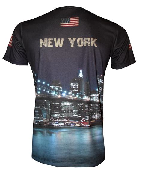 T Shirt Kaos New York new york t shirt with logo and all printed picture