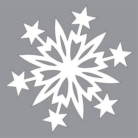 paper snowflake pattern  christmas stars cut