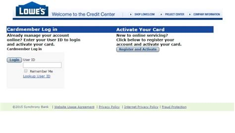 lowes credit card phone number credit lowes activate lowes credit card to log into