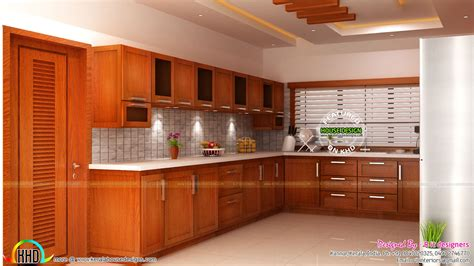 Modular Kitchen, Living And Bedroom Interior  Kerala Home