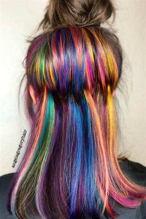 25 Best Ideas About Hidden Rainbow Hair On Pinterest