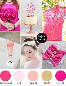 hot pink and gold wedding ideas