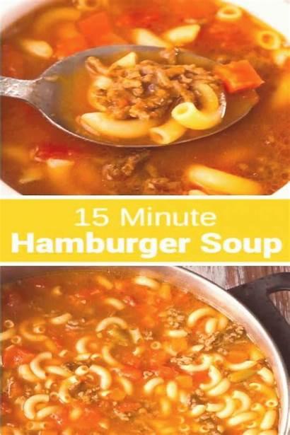 Soup Hamburger Hearty Macaroni Easy Recipe Fifteen