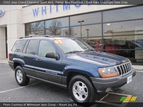 light blue jeep grand cherokee patriot blue pearlcoat 2002 jeep grand cherokee sport