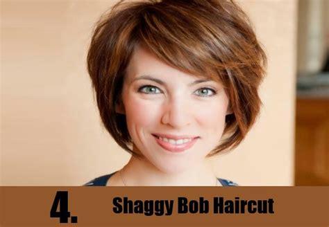Shaggy Bob Thick Straight Hair Heart Shaped Face