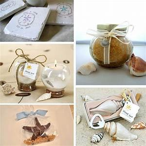 Beach themed wedding favors seaside or lakeside for Beach themed wedding favors