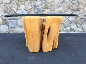 cypress wood tree trunk coffee table for sale at 1stdibs With cypress stump coffee table
