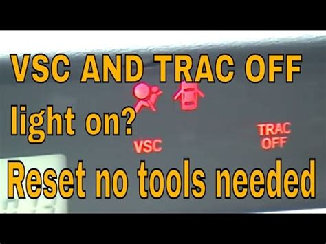 Check Engine Vsc Trac Off Warning Light On How To Fix Part 2