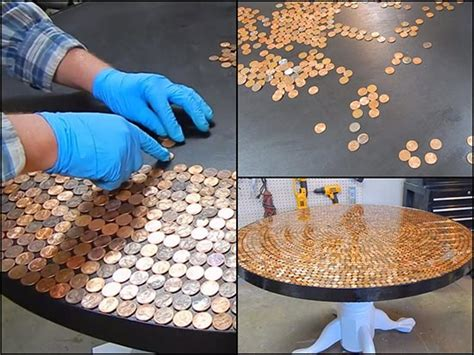 create  incredible penny table top home