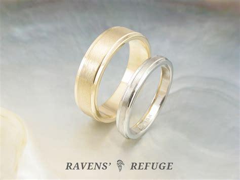 wedding rings simple wedding band set