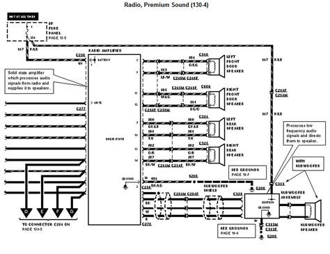 wiring diagram   radio    ford windstar