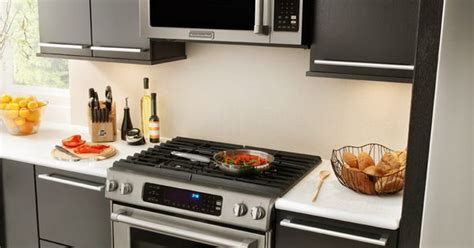stainless cabinets kitchen kitchenaid kgss907xsp 30 quot slide in gas range with 4 sealed 2463