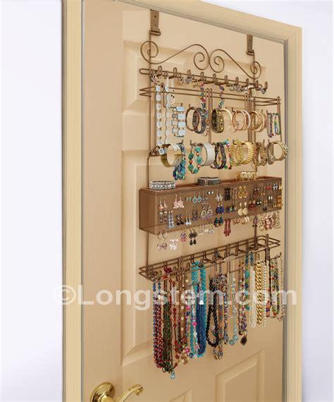 the door jewelry organizer longstem 174 overdoor wall jewelry organizers free shipping