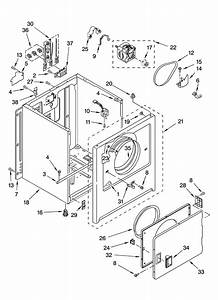 Cabinet Parts Diagram  U0026 Parts List For Model Cedx631vq1