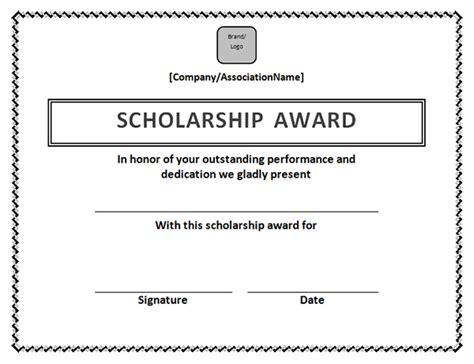 scholarship certificate template printable award certificate templates sleprintable