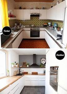 Küchenfronten Streichen Vorher Nachher : makeover k che versch nern vorher nachher teil 2 do it yourself pinterest k che neu ~ Orissabook.com Haus und Dekorationen