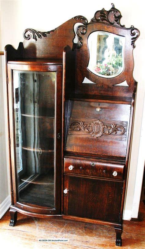 antique secretary desk with bookcase gorgeous american antique drop front oak secretary desk