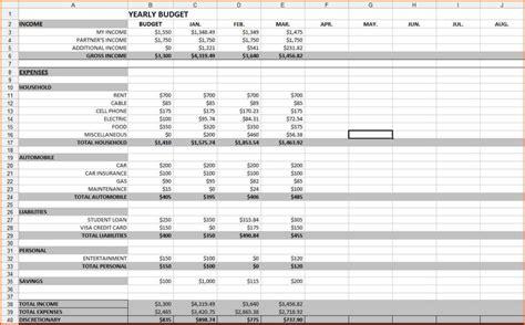 budgeting spreadsheet template budget spreadsheet