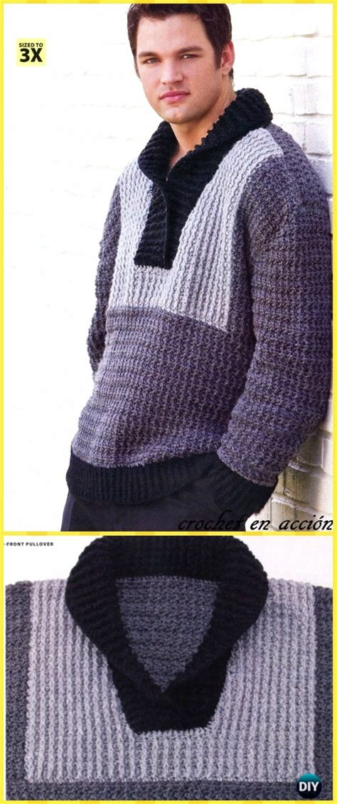 crochet men sweater  patterns tutorials
