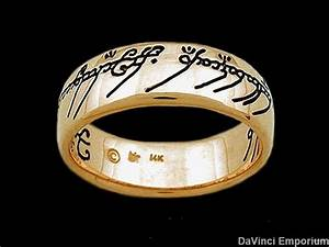 lord of the rings wedding band 10k yellow gold one ring of With ring of power wedding band