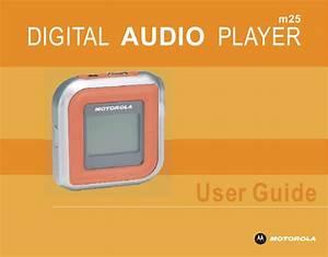 Motorola M25 Users Manual Welcome