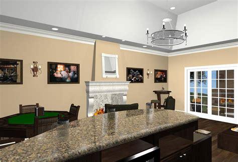 bonus room designs  fireplace wet bar  wine room