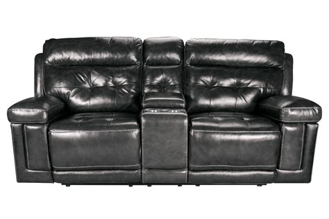 Reclining Loveseat With Console Leather by Dusty Leather Power Reclining Loveseat With Console At