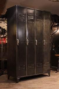 Meuble De Mtier Ancien Vestiaire Usine Deco Loft Renaud