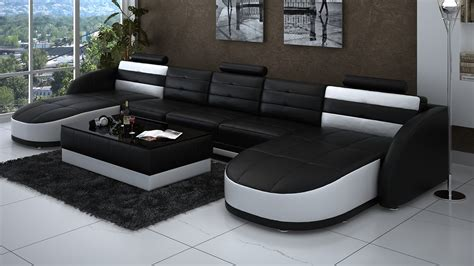 chaise table leather chaise sectional in black and white plus