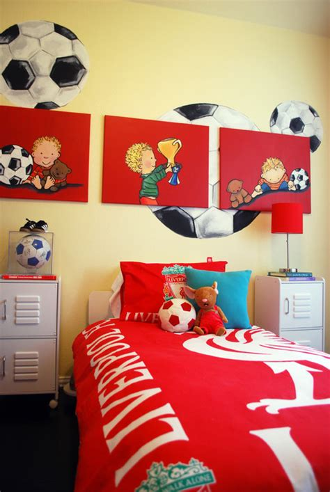Playful Decor Sports Themed Kids Bedrooms