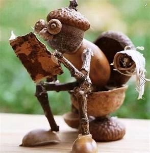 Pinterest Bricolage Jardin : petit bricolage d automne avec des glands noix et ~ Melissatoandfro.com Idées de Décoration