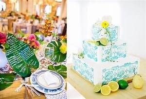 Deco Table Tropical : inspiration une d coration de mariage tropical ~ Teatrodelosmanantiales.com Idées de Décoration