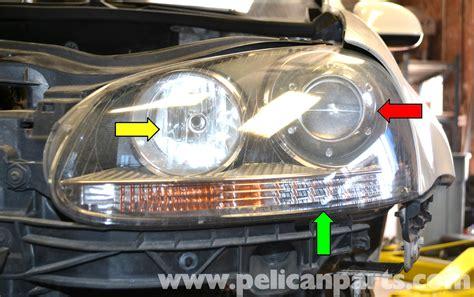 volkswagen golf gti mk v headlight bulb and assembly