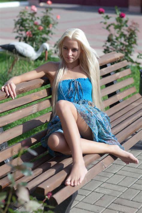 Skinny Blonde Teen With Long Hair
