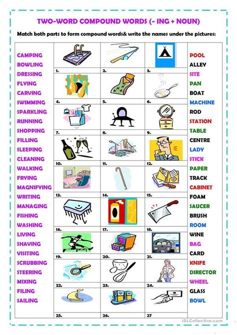 word compound words ing compound words compound