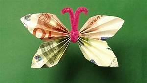 Geld Falten Blume Rose Anleitung : geldscheine falten geldgeschenke schmetterling youtube ~ Lizthompson.info Haus und Dekorationen