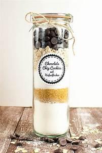 Backmischung Im Glas Fr Chocolate Chip Cookies Mit