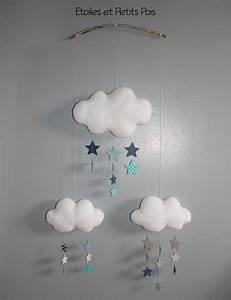 Mobile Bébé Nuage : 1000 id es propos de mobile nuages sur pinterest mobiles en feutre et chambre b b ~ Teatrodelosmanantiales.com Idées de Décoration
